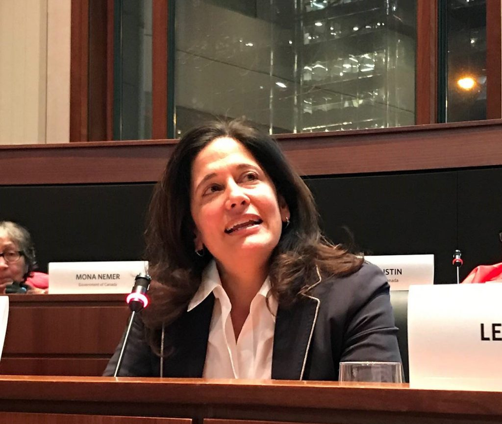 Photograph of Professor Ilina Singh speaking at a Women in Science event
