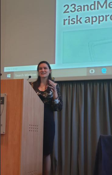 Photograph of Gabriela Pavarini at the International Neuroethics Society 2019